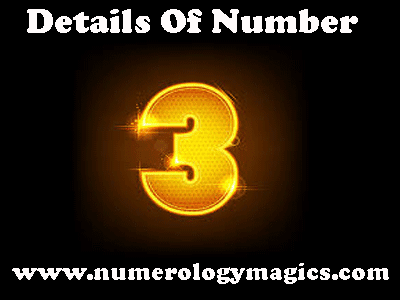 number 3 in numerology, characteristics of number three by numerologist