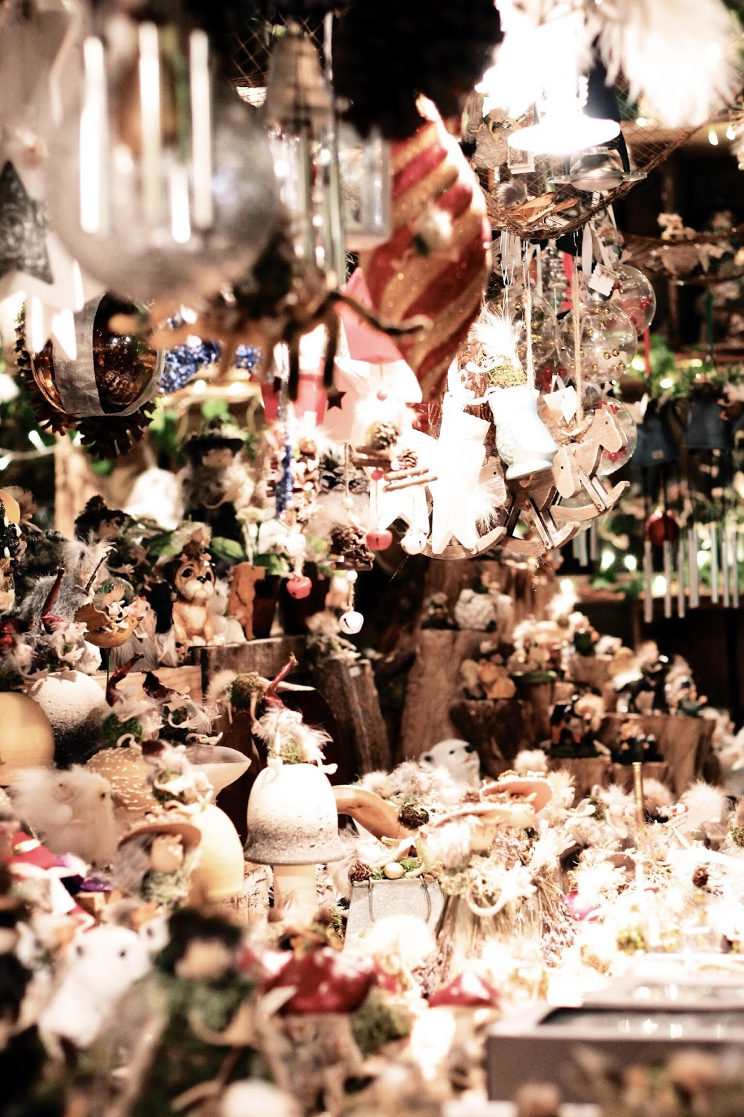 Christmas market stall decorations in Belgium