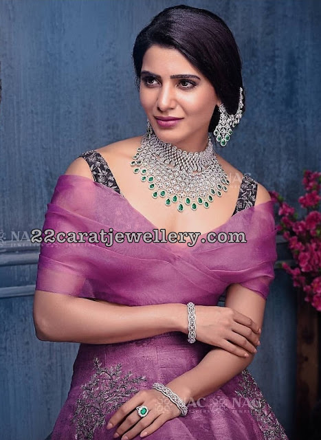 Samantha Akkineni Heavy Diamond Sets