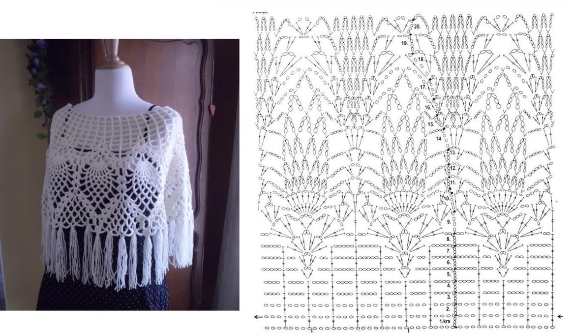Magnífico Crochet Patrón Carenado Poncho Colección - Ideas de ...