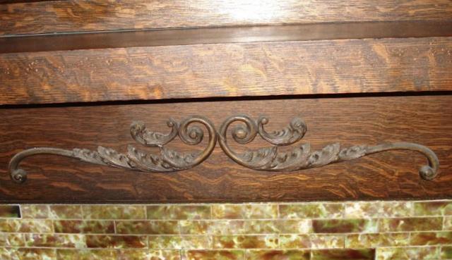 closeup of scroll work on fireplace mantel 263 3 Elm St Newton NJ Authenticated Sears No 163 of Reuben Talmage