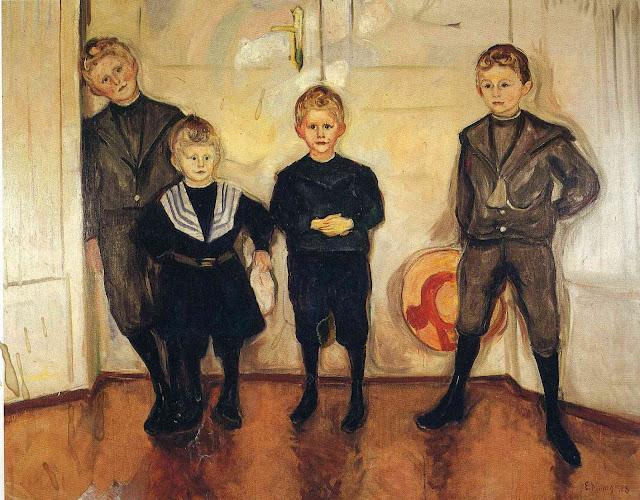Эдвард Мунк - Четыре сына доктора Линда. 1903