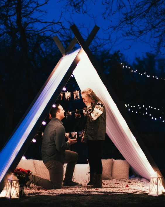 Romantic Propose in The Tent-2 Image: Pinterest Community