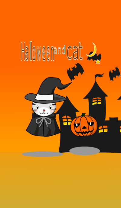 Halloween and cat
