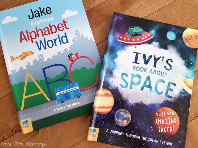 in the book, personalized books, kids books, abc book, space book