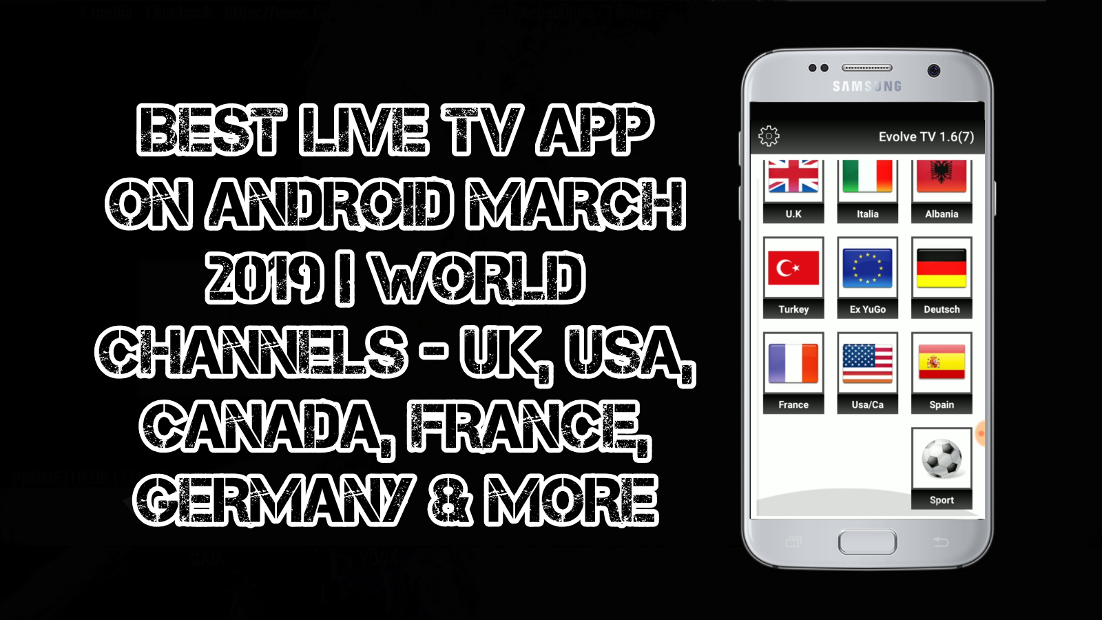 BEST LIVE TV APP ON ANDROID MARCH 2019 WORLD CHANNELS - UK, USA
