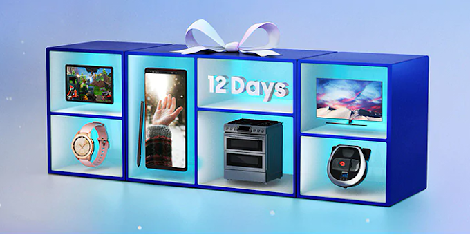 Samsung discounts various items as part of its '12 Days of Deals' promotion