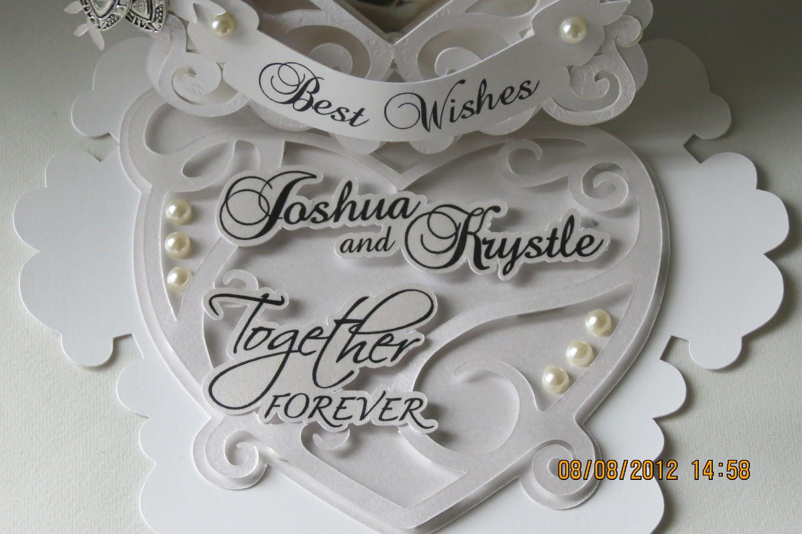 ligaya's creativity zone wedding card  for krystle  josh