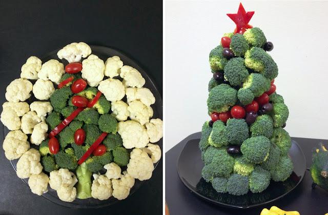 Christmas Tree Crudite Platters