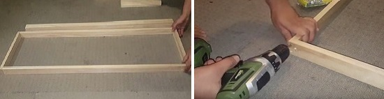 Start making frame of the canopy
