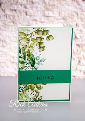 Forever Fern Stamp Set, Just Jade Cardstock, Whisper White Cardstock, Whisper White Note Cards & Envelopes, Stampin' Up!, Rick Adkins