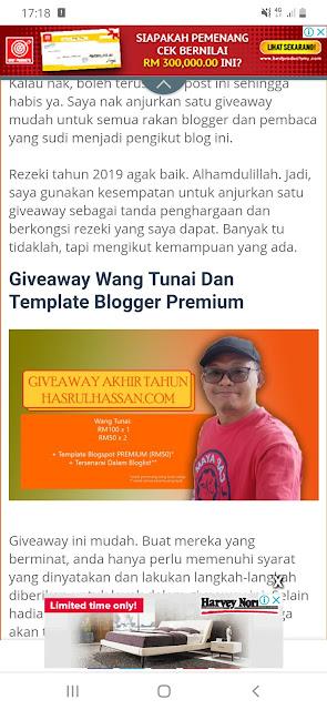 Menang Giveaway Akhir Tahun HasrulHassan.Com