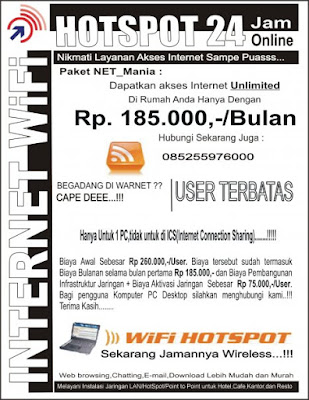 Contoh Brosur RT RW Net-4