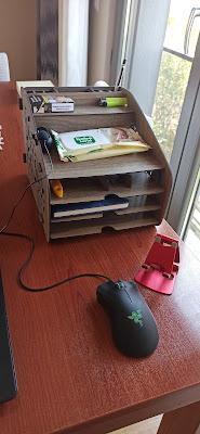 Çalışma Masalar için Masaüstü Ahşap Evrak Rafı ve Telefon Standı