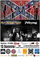 Concierto de Five Strings band y Pölisong en Café Cultural Auriense
