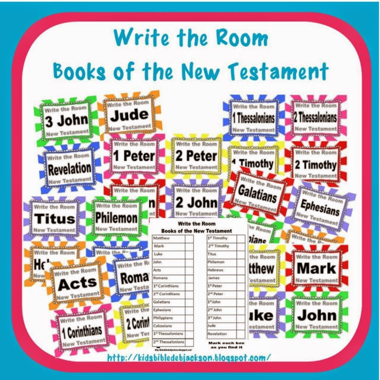 Write the Room Books of the Bible Printables