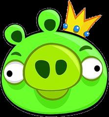 King Pig Cartoon Wallpaper Angry Birds