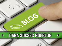5 Panduan Cara Sukses Ngeblog yang Pas