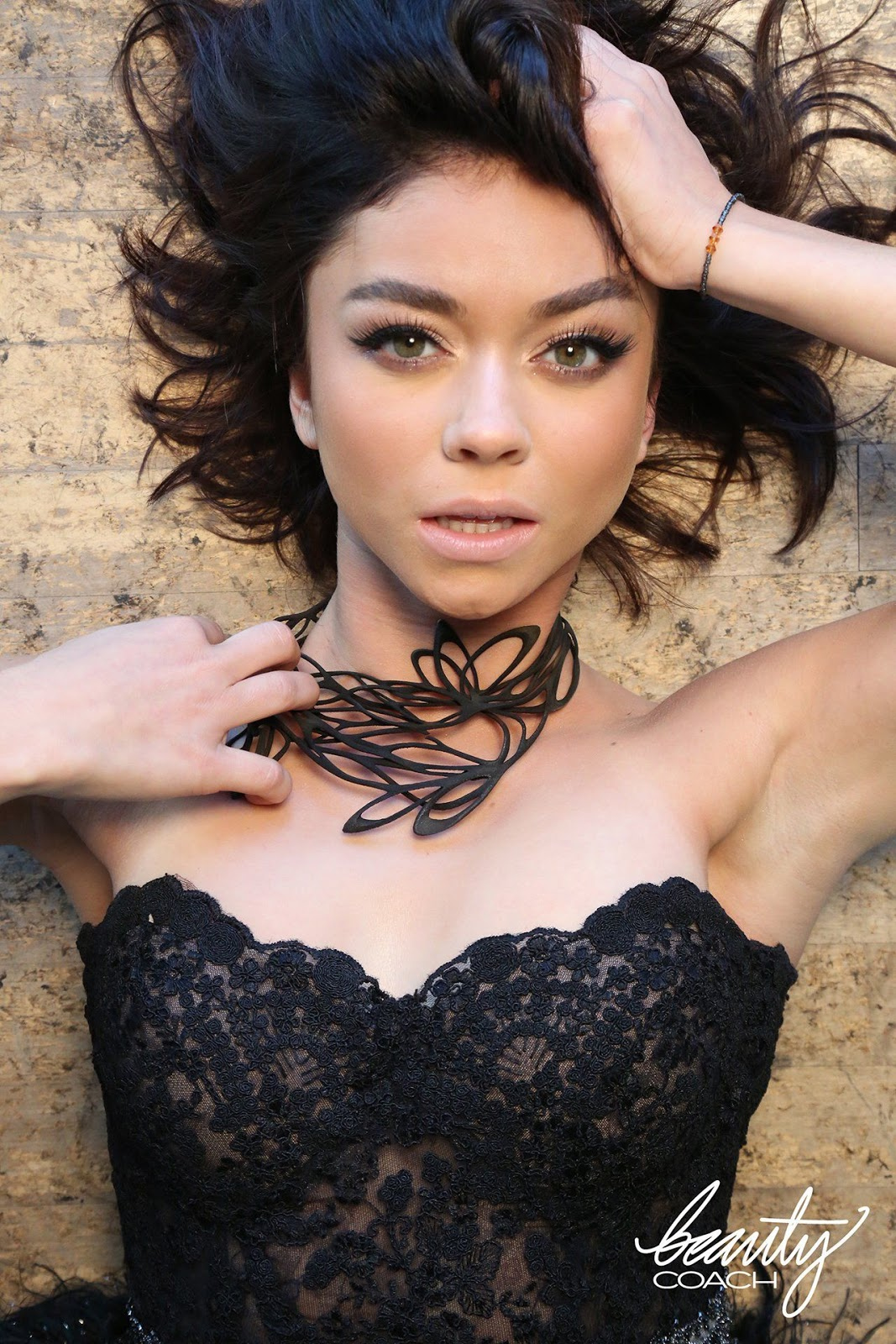 Sarah Hyland channels Black Swan for Beauty Coach