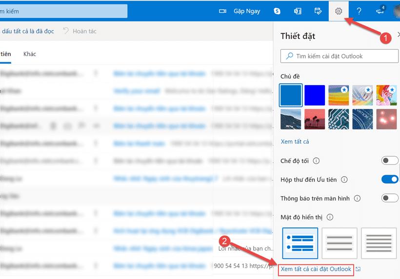 Cách tạo chữ ký trên Outlook.com