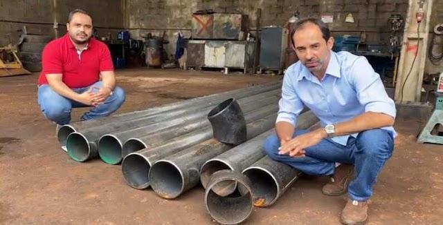 Senador Canedo: Sanesc inicia nesta semana substituição de tubos de plástico por de aço carbono