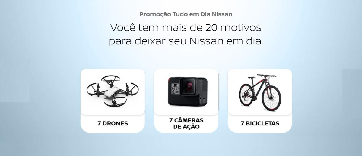 Participar Promoção Tudo em Dia Nissan 2021 Prêmios - Cadastrar e Ganhadores