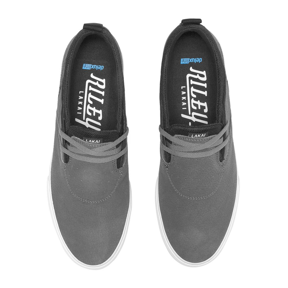 Lakai Newport Charcoal Synthetic Nubuck Vegan Shoe