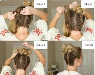 Örgü Saç Modelleri Ve Yapılışları-Pratik Saç Toplama Modelleri