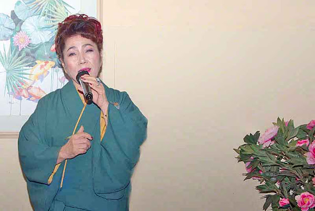 woman singer, Japanese Enka, traditional music