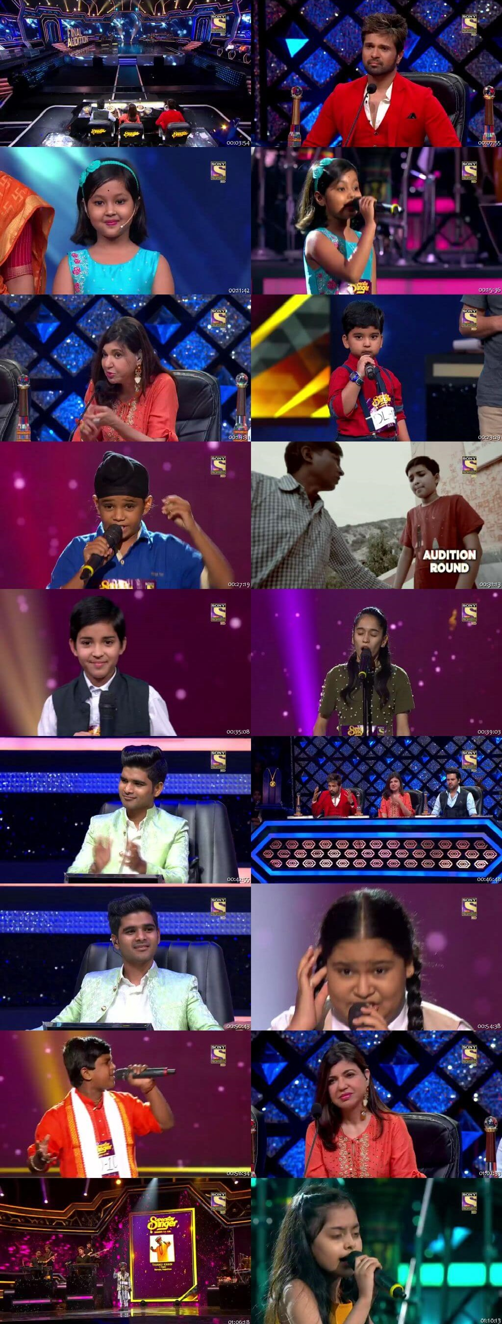 Screenshots Of Hindi Show Superstar Singer 14th July 2019 Episode 06 300MB 480P HD