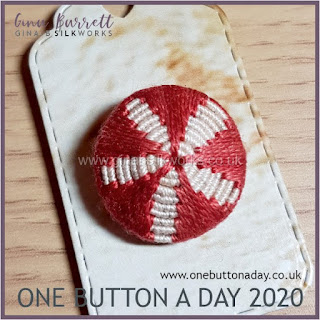 One Button a Day 2020 by Gina Barrett - Day 2 : Coiled Flower