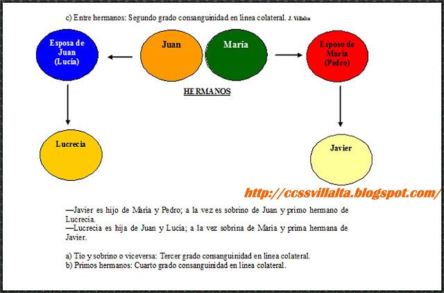 Ciencias sociales parentesco arts 127 132 del c digo for Cuarto definicion