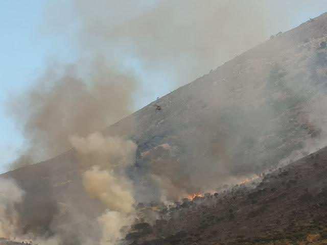 Μάχη με τις φλόγες στην Ανατολική Μάνη - Πυρκαγιά και στο Γεράκι