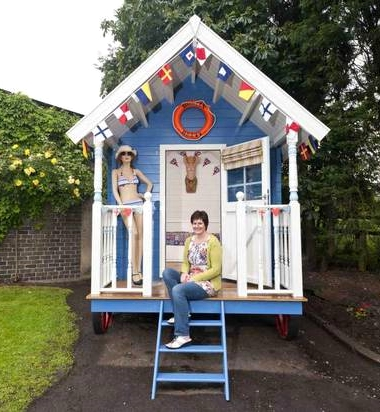 Turning a garden shed into a nautical seaside escape for Beach hut ideas