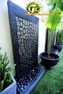 Jasa taman surabaya water wall