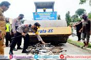 Satlantas Polres Majene Lakukan Pemusnahan Ratusan Knalpot Brong