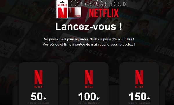 netflix gratuit arnaque