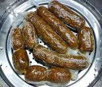 Chorizos Vegetales al Vapor