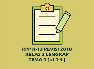 Download Gratis RPP Kelas 2 Tema 4 Kurikulum 2013 Revisi 2018