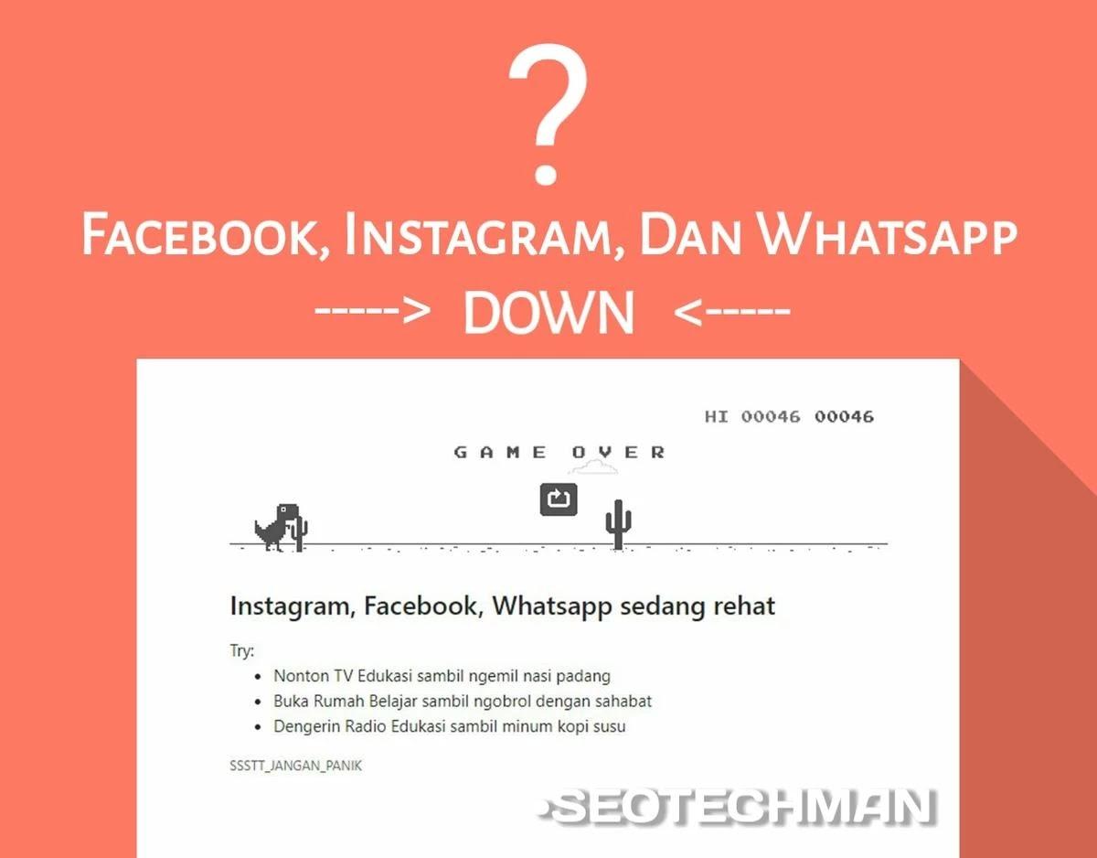 Trending Topik: Facebook, Instagram, Dan Whatsapp Down Diseluruh Dunia