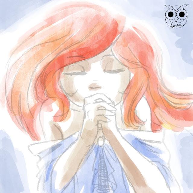 pray-lucyowlart-luciaalocchiart