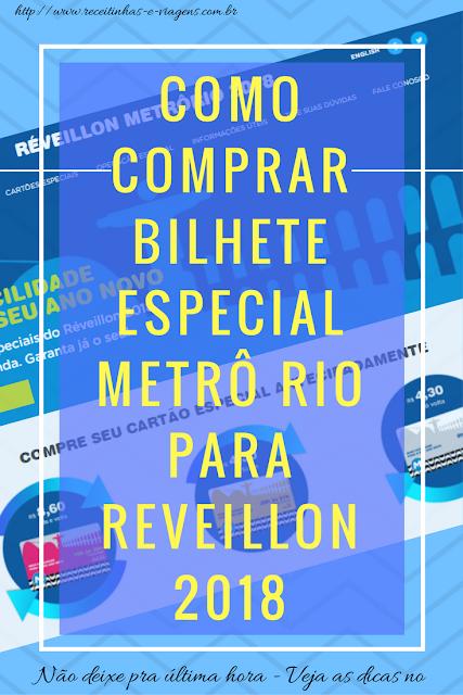 Como comprar bilhete especial do metrô Rio de Janeiro para Copacabana