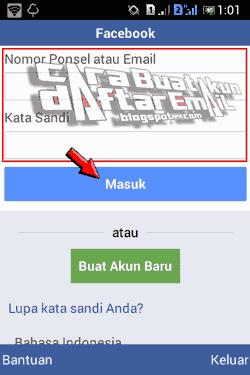 Facebook Seluler Masuk