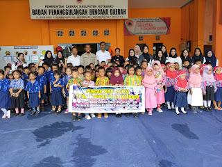 Puluhan Anak Pra Sekolah Datangi BPBD Kotabaru
