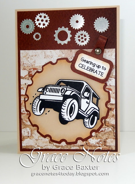 4x4 Truck Masculine Bday Card, by Grace Baxter