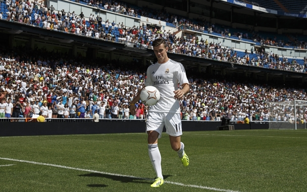 Bale at his unveiling in 2013