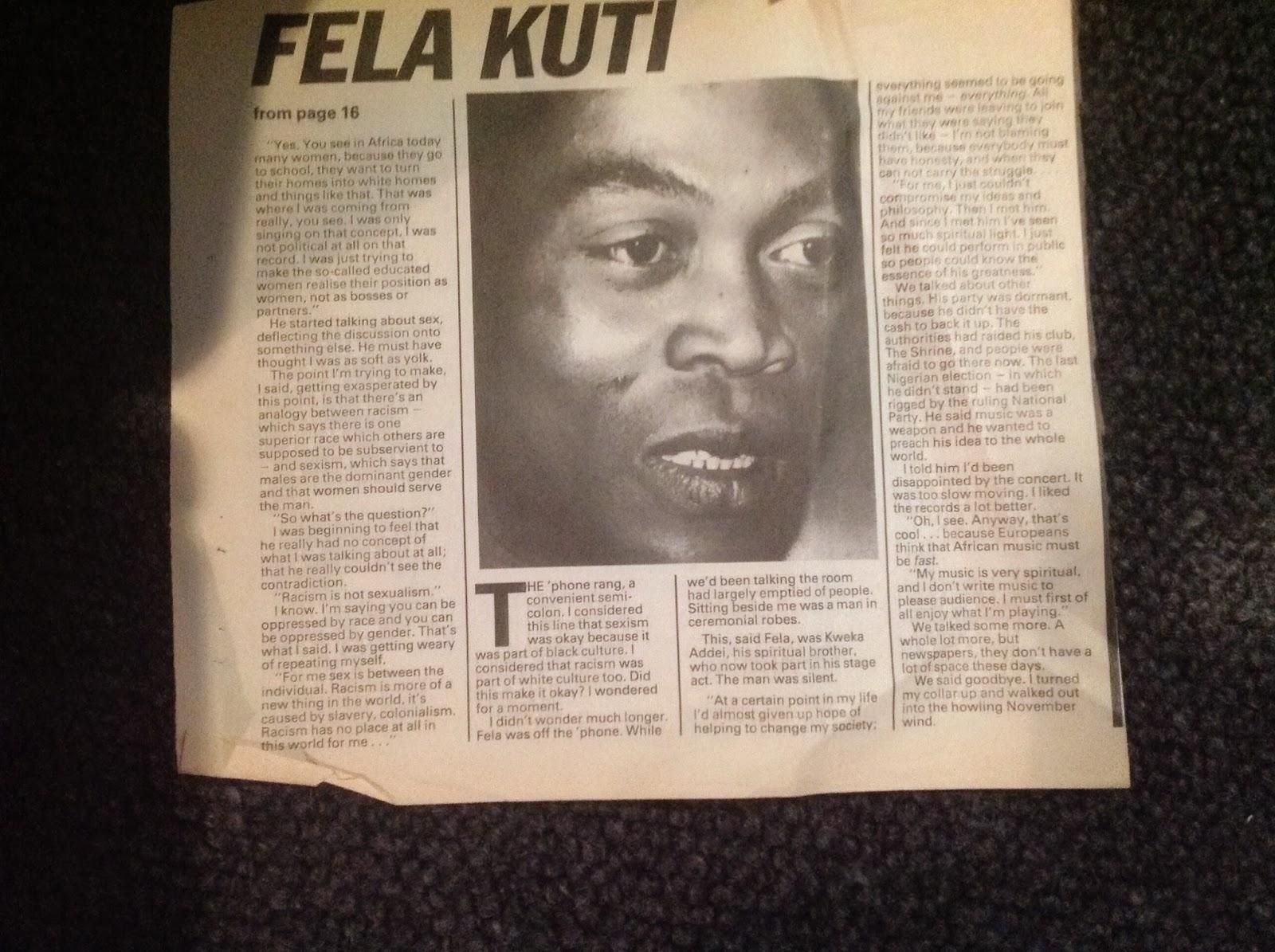 1983: Brat interviewer boxes Fela Kuti's ears | Eyes Wired Open