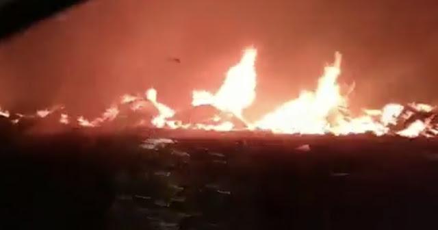 Mais um incêndio é registrado no Lixão de Patos