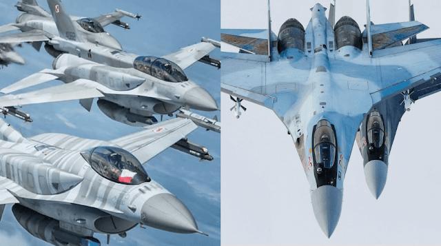 F-16 dan Su-27 - WandiWeb