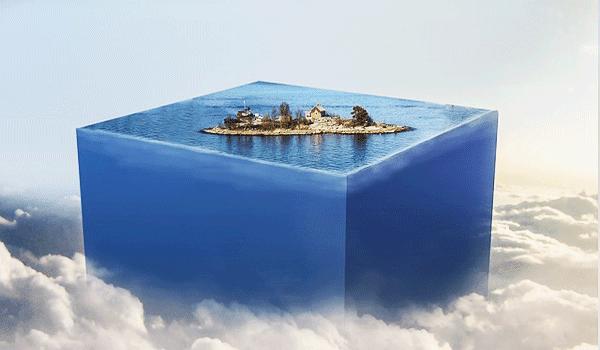 Gambar Pemandangan Fantasi Panorama Langit